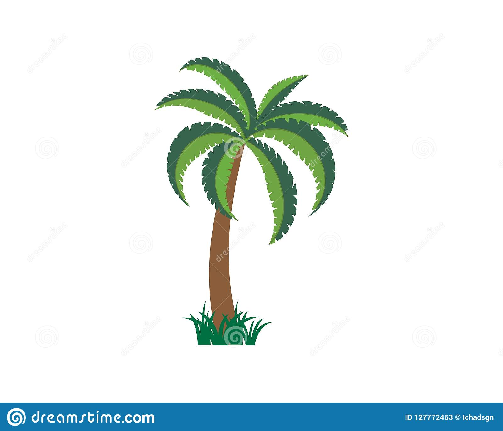 palm tree summer logo template vector stock vector illustration of