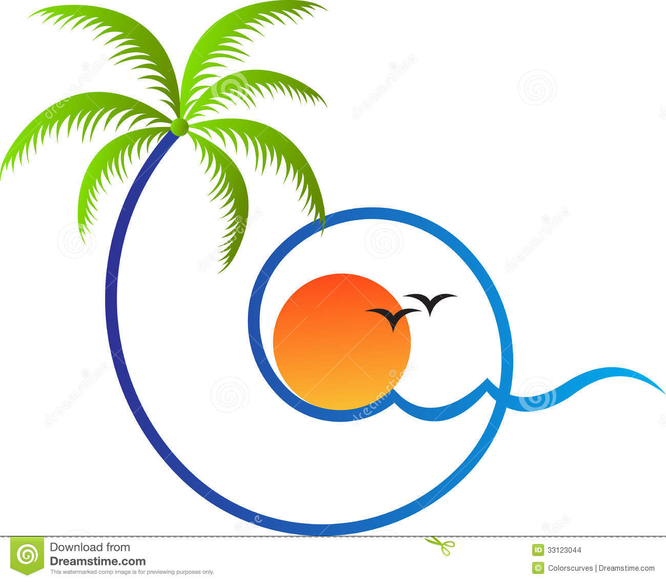 Palm Tree Stock Images Image 33123044