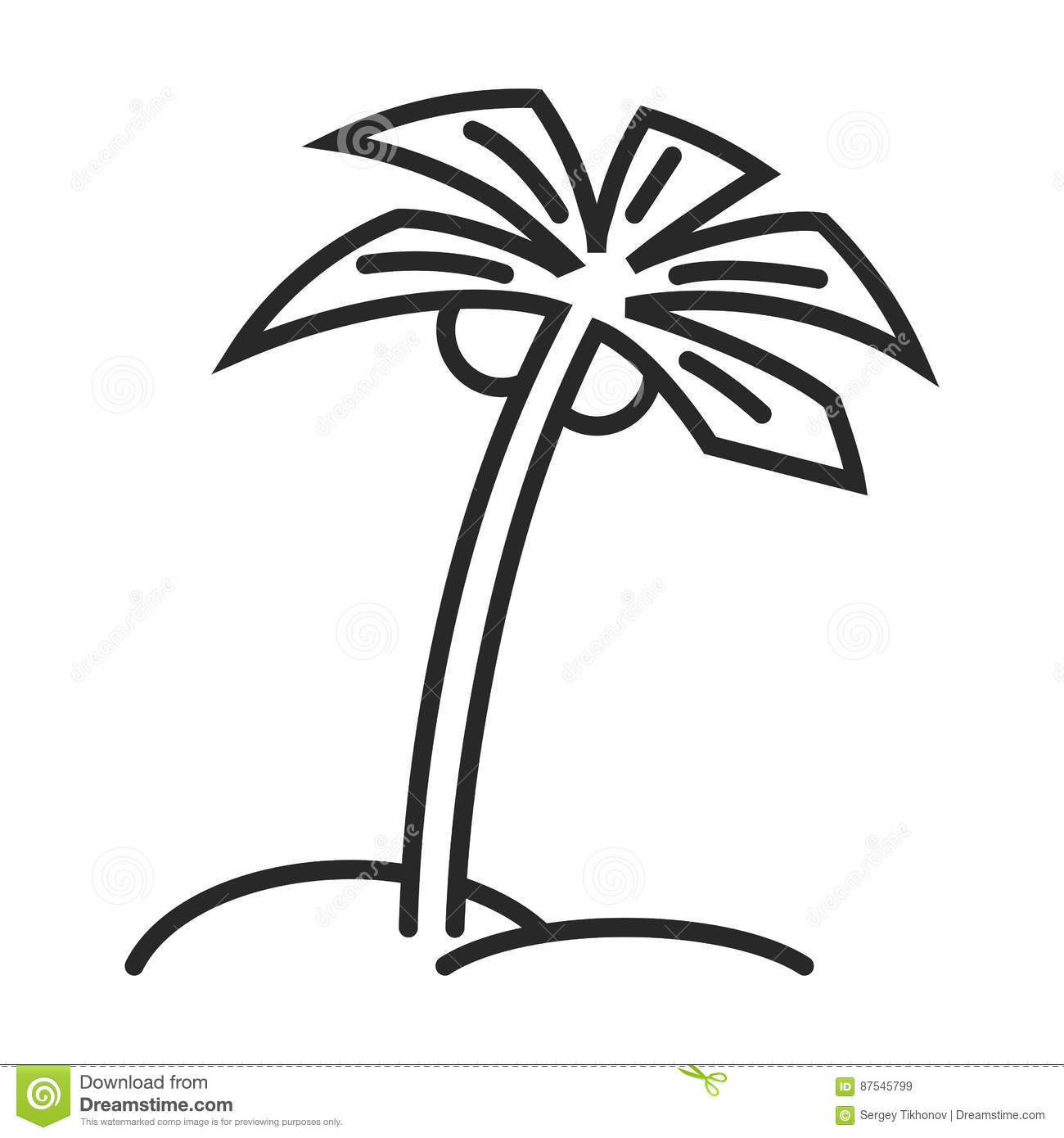 palm tree vector icon stock vector illustration of natural 87545799 rh dreamstime com free palm tree vector ai free palm tree vector images