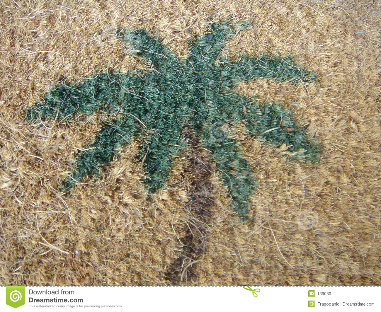 Blank Welcome Mat Palm tree welcome mat