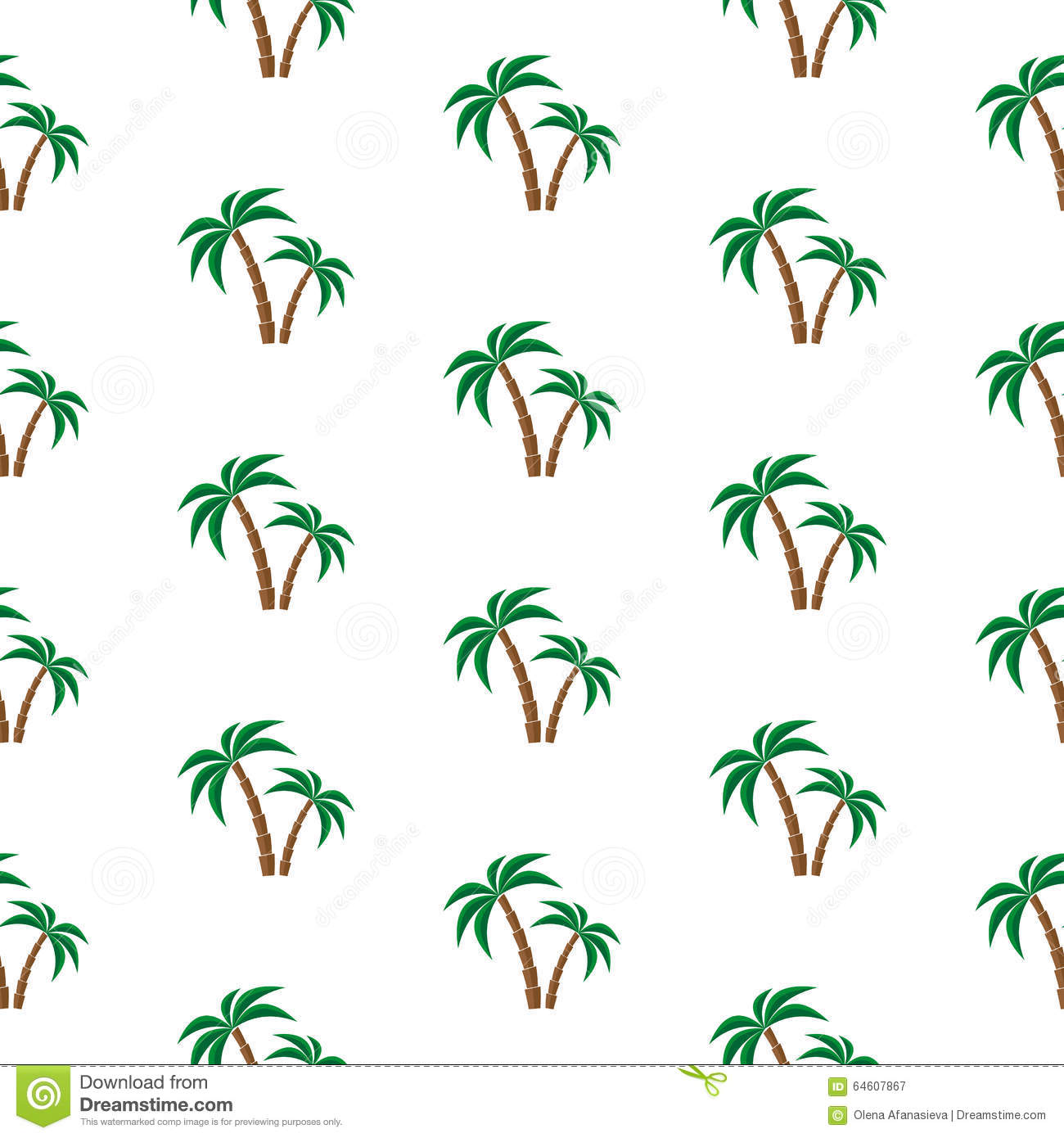 Palm trees. Seamless pattern. Vector illustration on a white ...