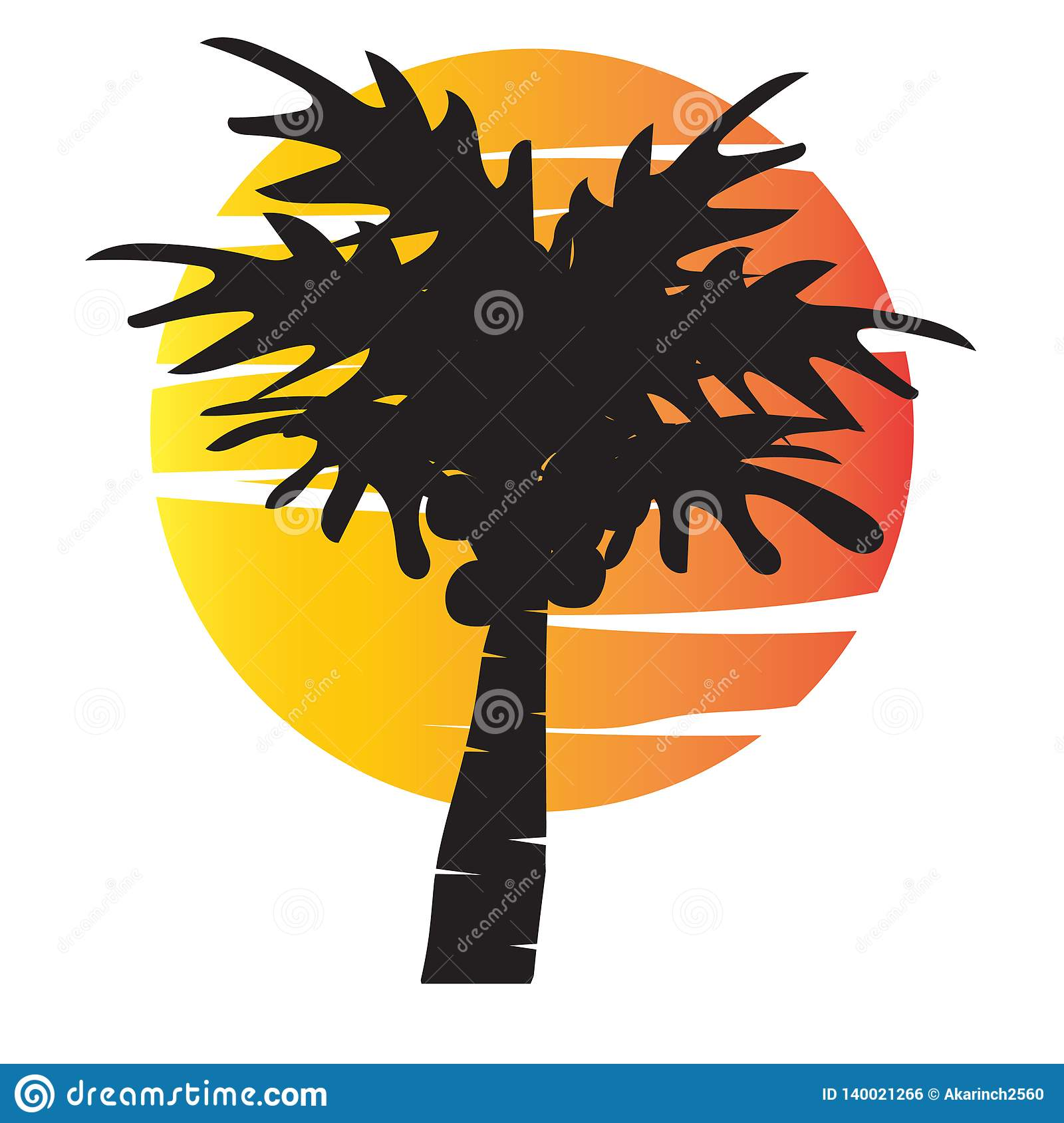 Summer tree palm logo icon vector template