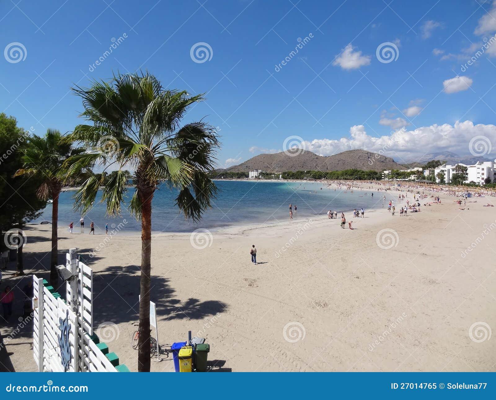 Palma de mallorca spiaggia di alcudia fotografia stock - Fotografia palma de mallorca ...