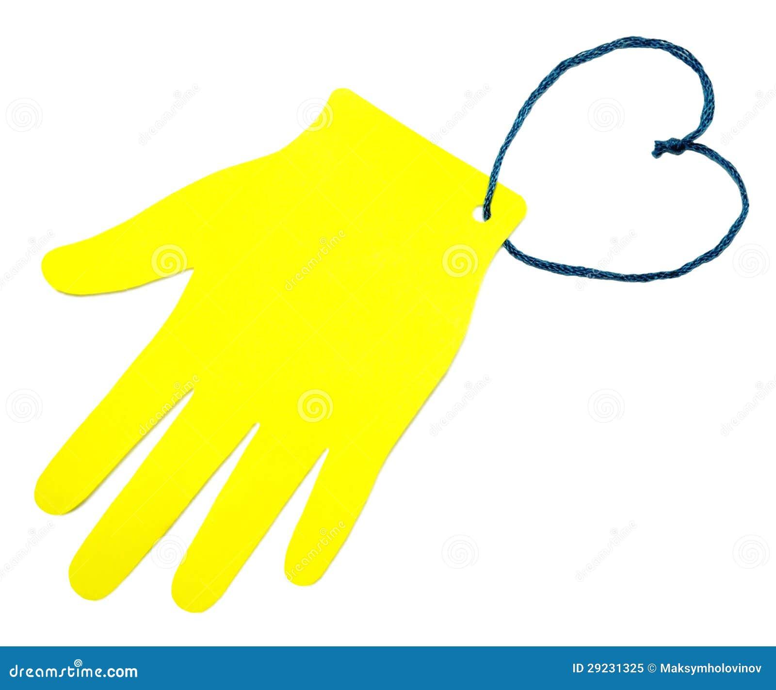 Download A palma do papel amarelo imagem de stock. Imagem de papel - 29231325