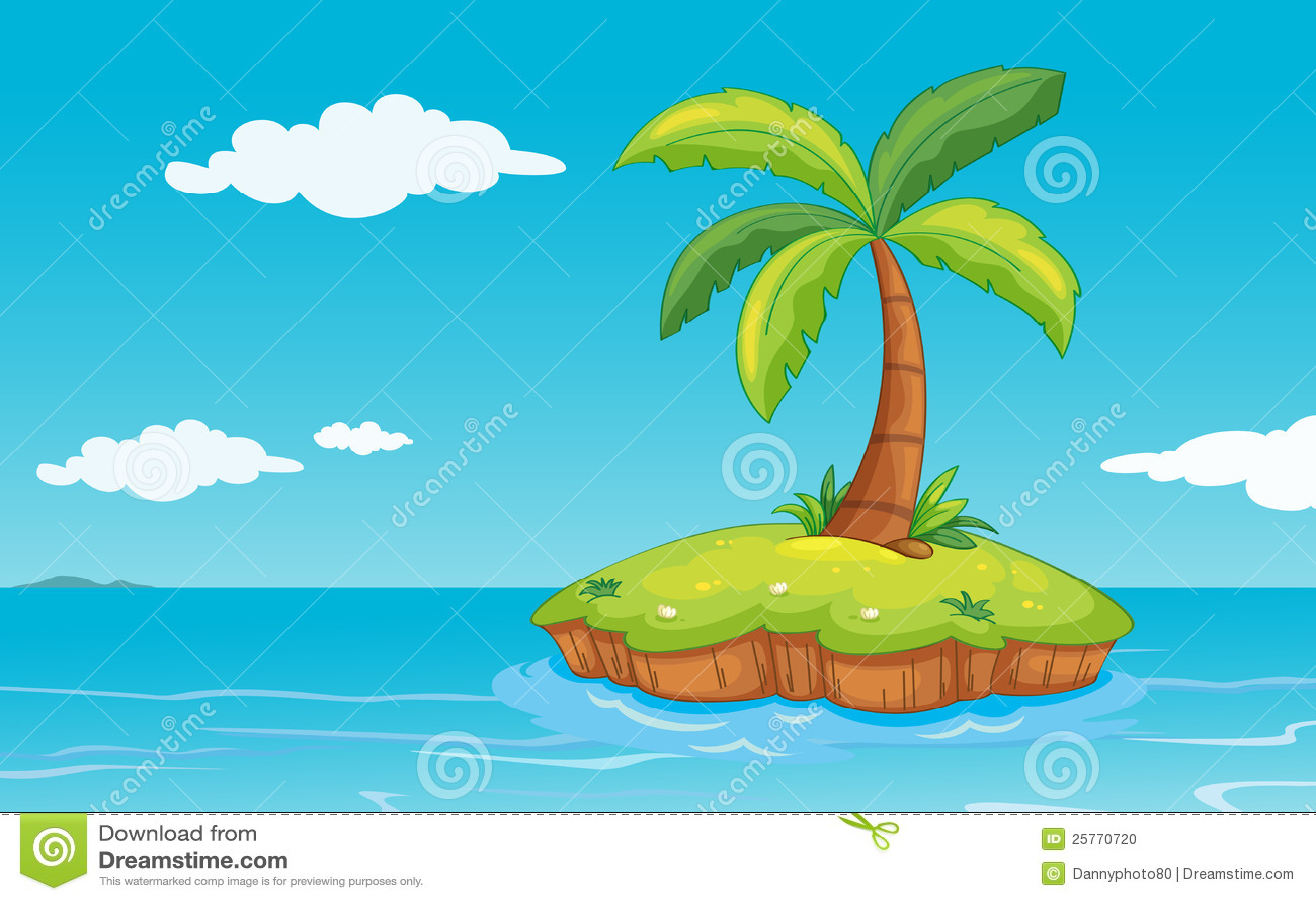 Palme auf Insel