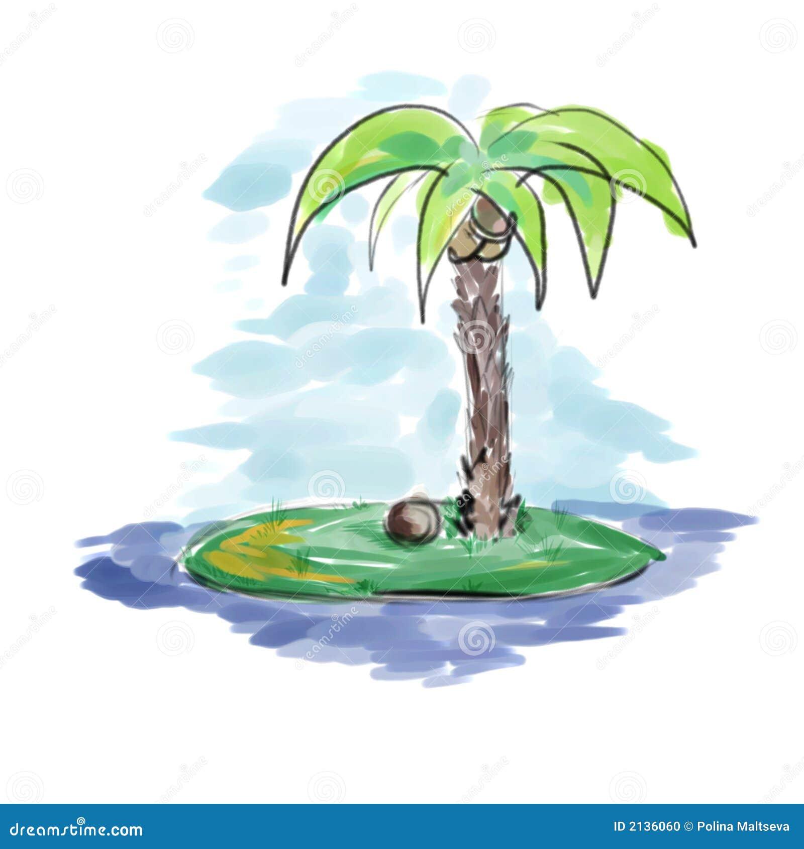 palme in der insel stock abbildung illustration von nachrichten 2136060. Black Bedroom Furniture Sets. Home Design Ideas