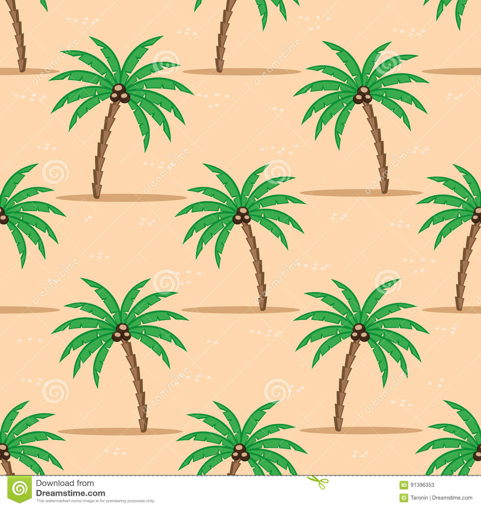 Palmeiras na areia