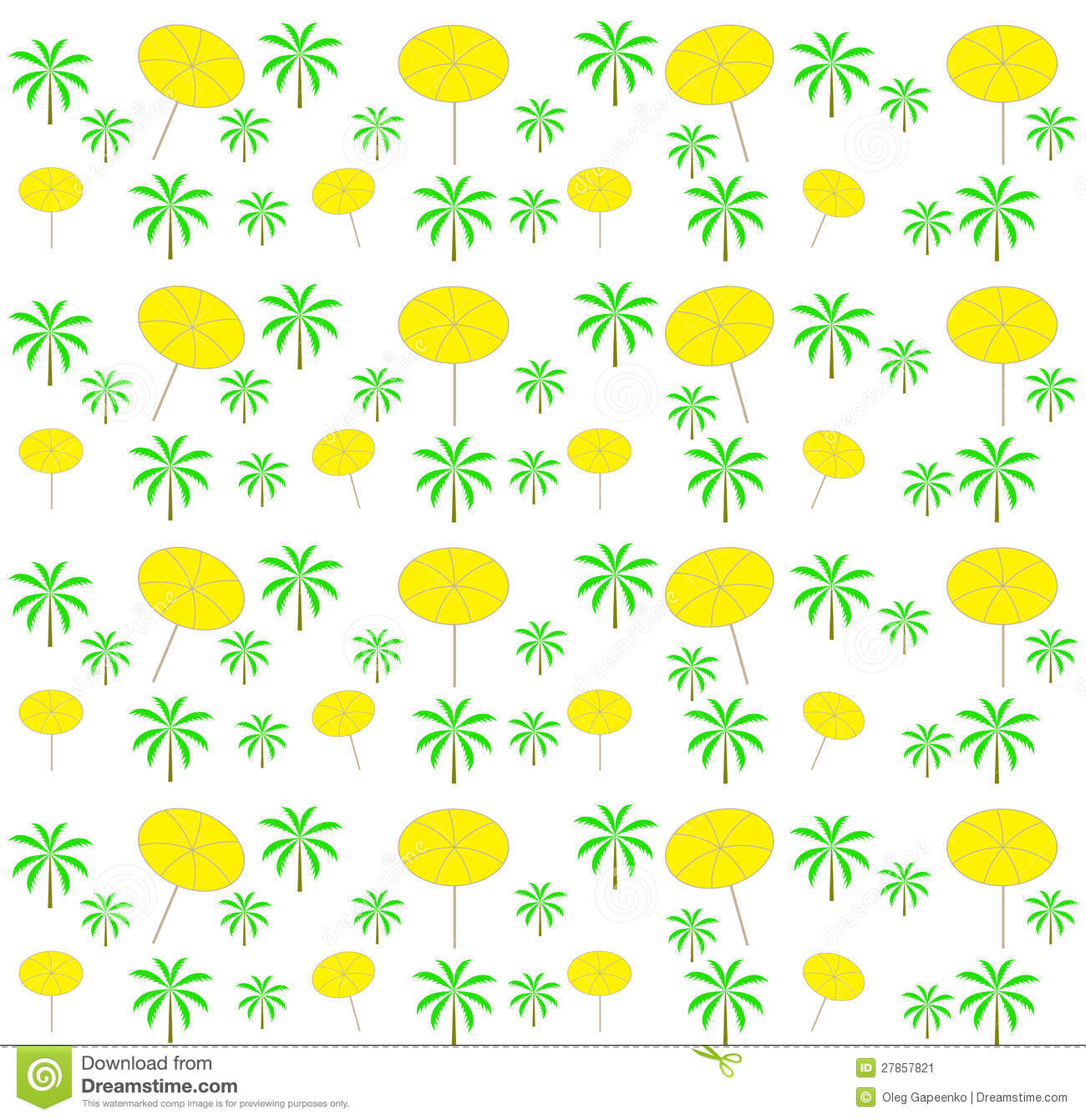 palmen nahtloses muster der regenschirme vektor vektor. Black Bedroom Furniture Sets. Home Design Ideas