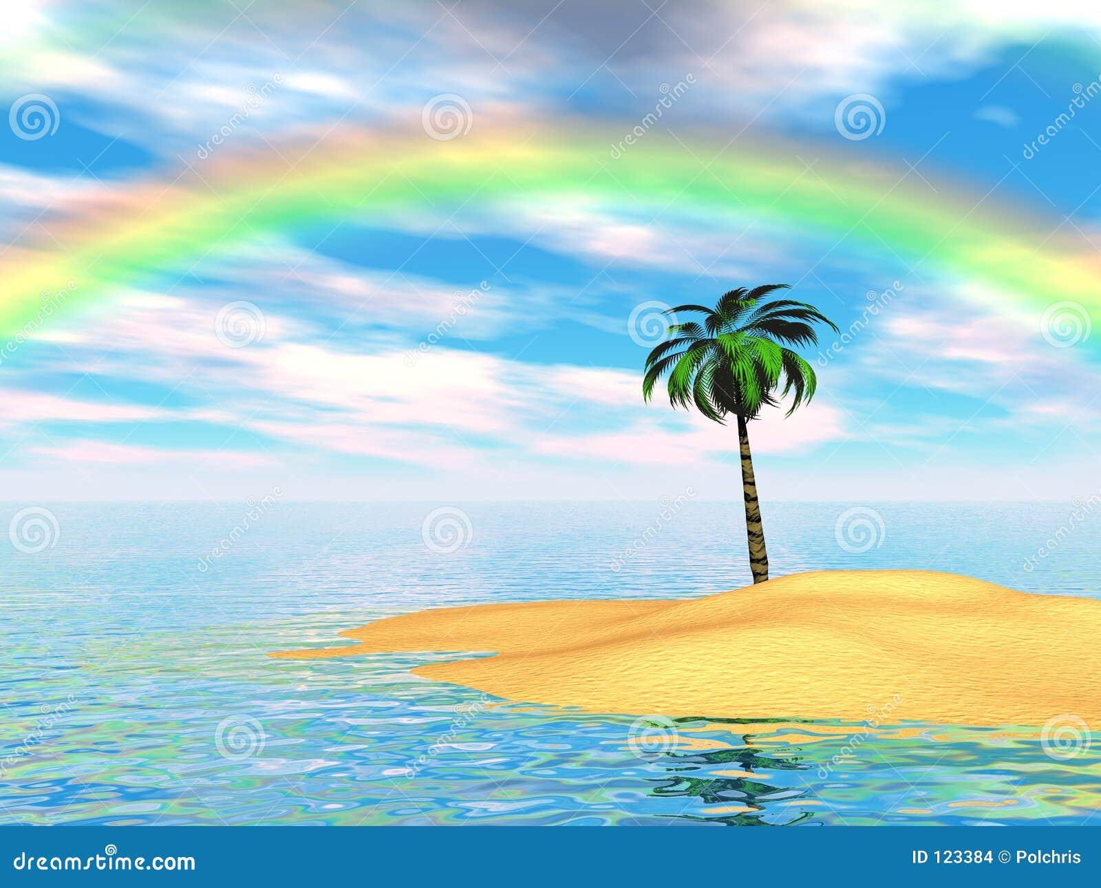 palmen regenbogen insel stockbilder bild 123384. Black Bedroom Furniture Sets. Home Design Ideas