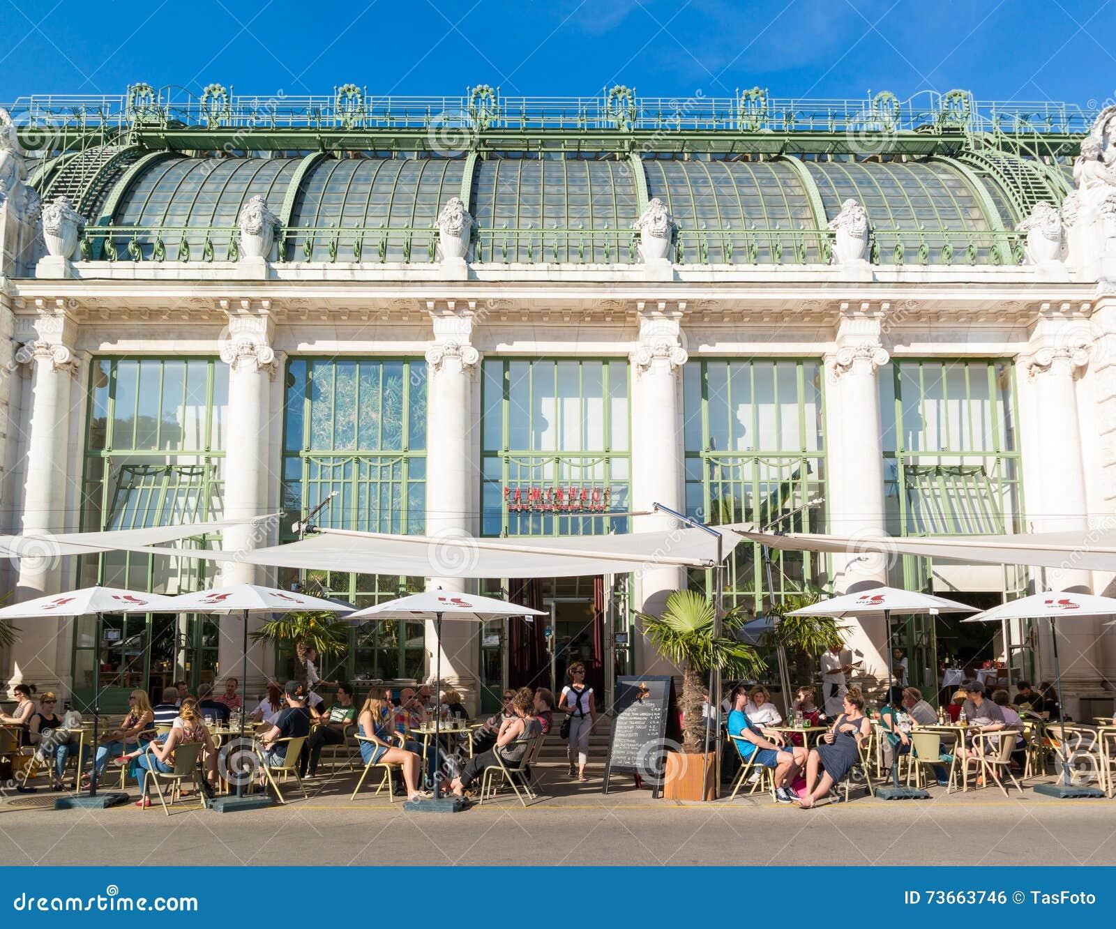 Palmenhaus cafe in Burggarten, Vienna, Austria