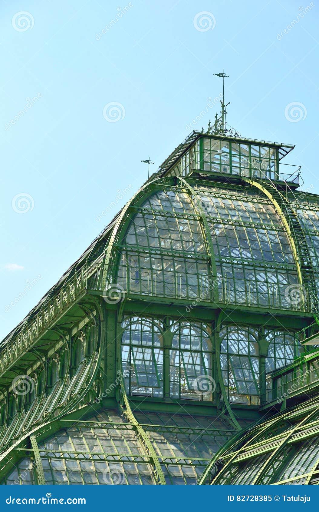Palmenhaus tak, ett gammalt växthus i Wien