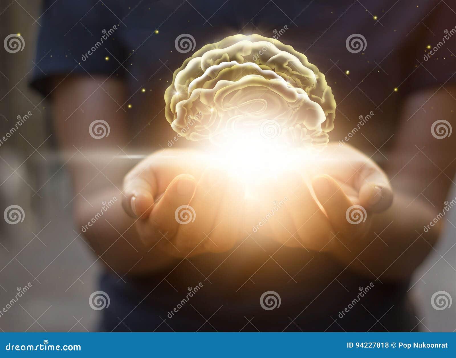 Palmensorgfalt und schützt virtuelles Gehirn, innovative Technologie in Sc