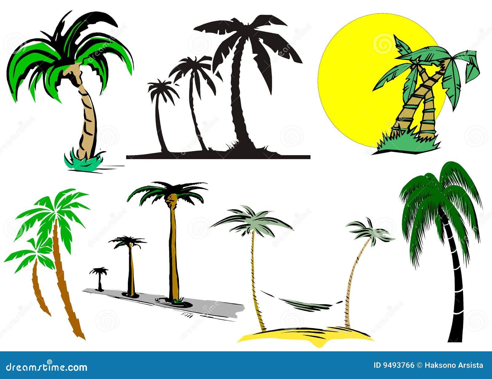 Palmier de dessin anim illustration stock illustration du destination 9493766 - Dessin palmier ...