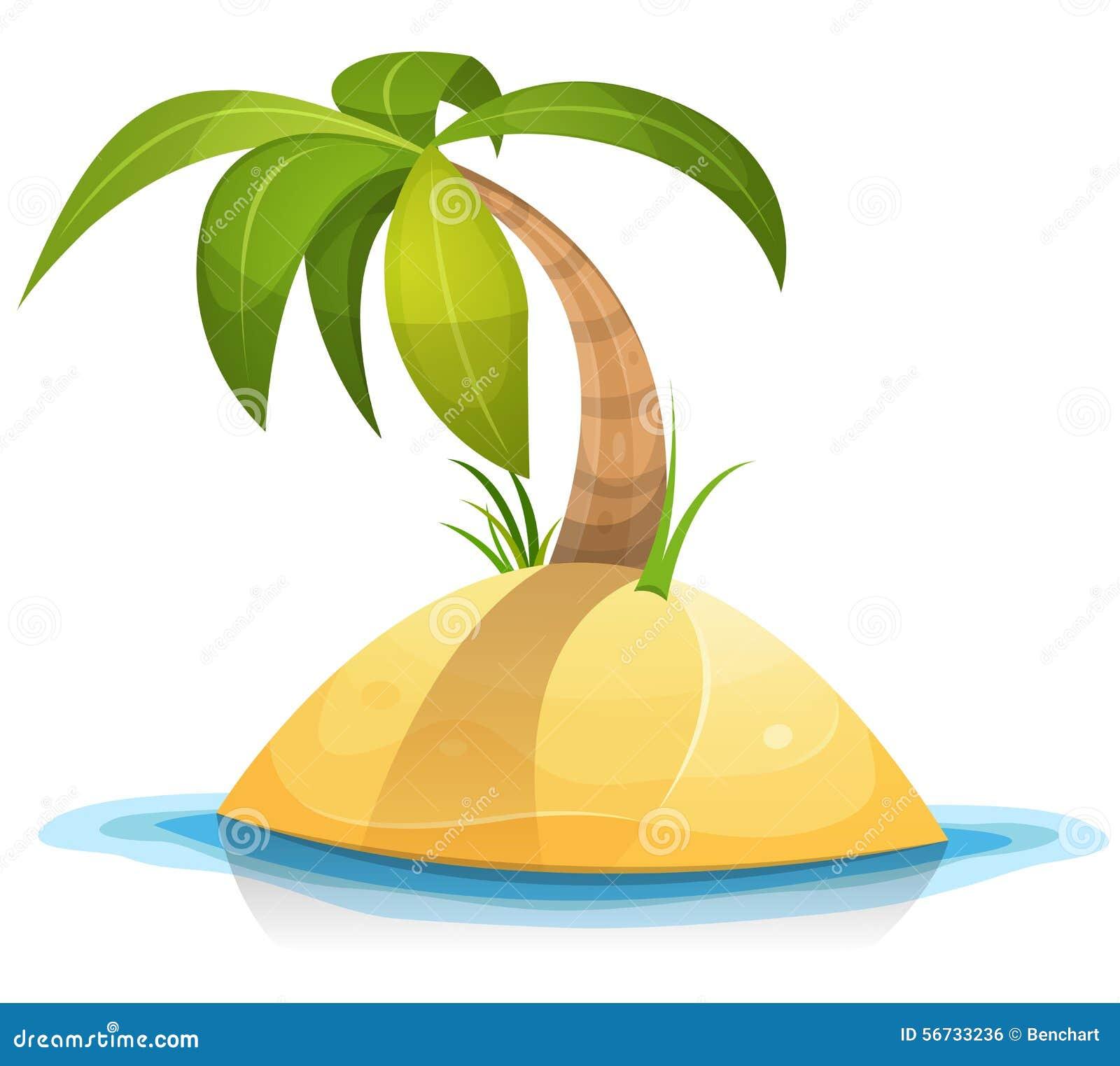 Palmier sur l 39 le d serte tropicale illustration de vecteur illustration du vert outre 56733236 - Palmier clipart ...
