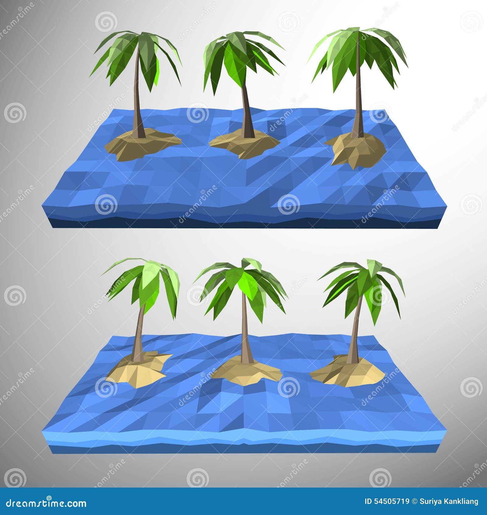 Palmier sur l île isolée
