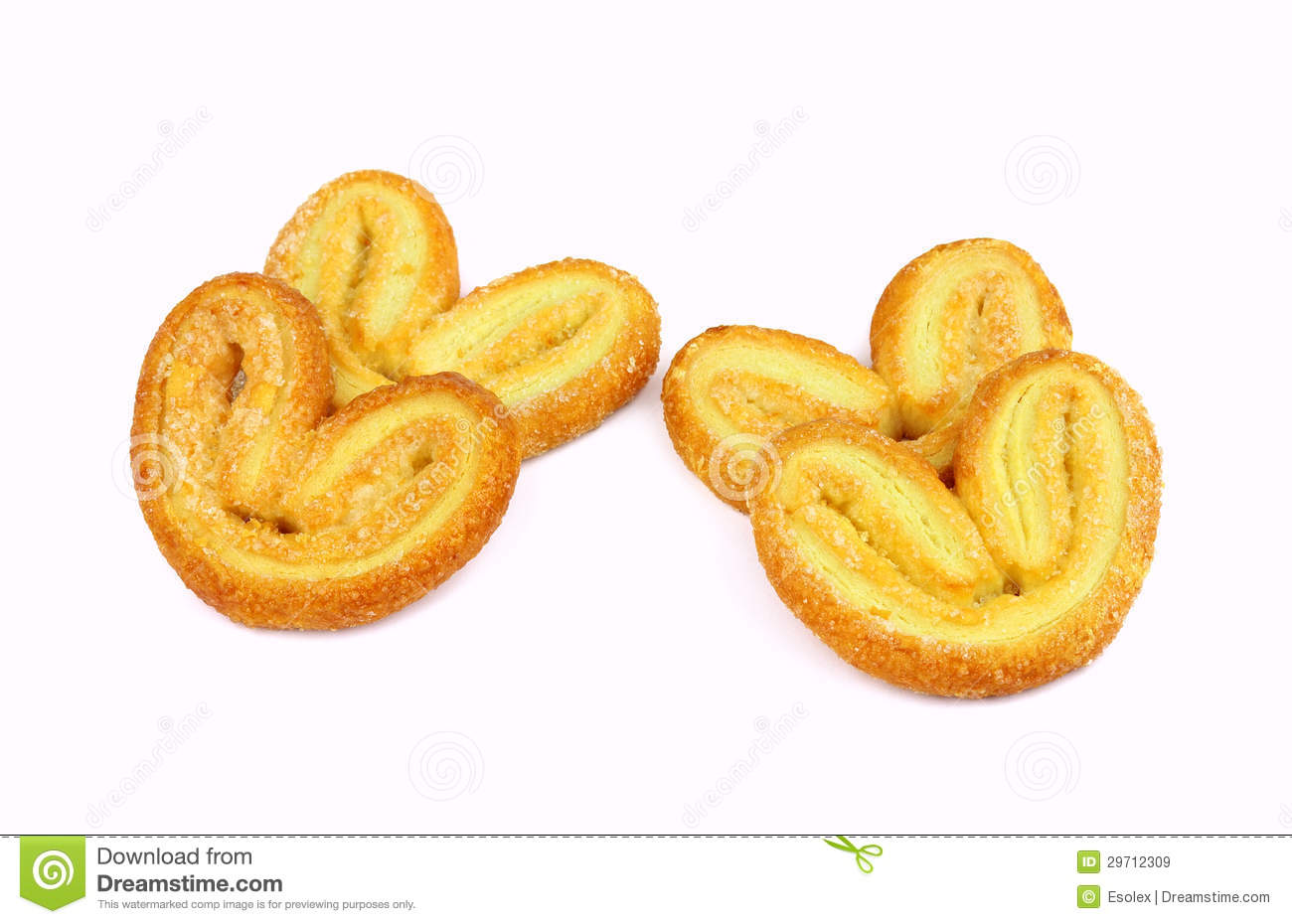 Palmiers. Elephant Ear. Puff Pastry Cookie Royalty Free Stock Images ...