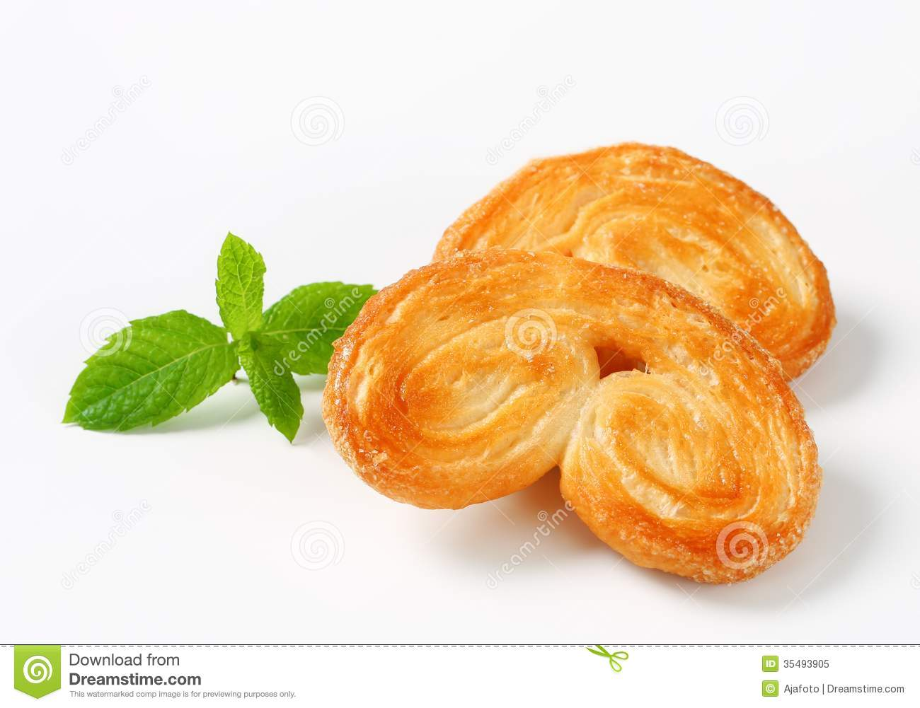 Palmiers - Puff Pastry Cookies Royalty Free Stock Photo - Image ...