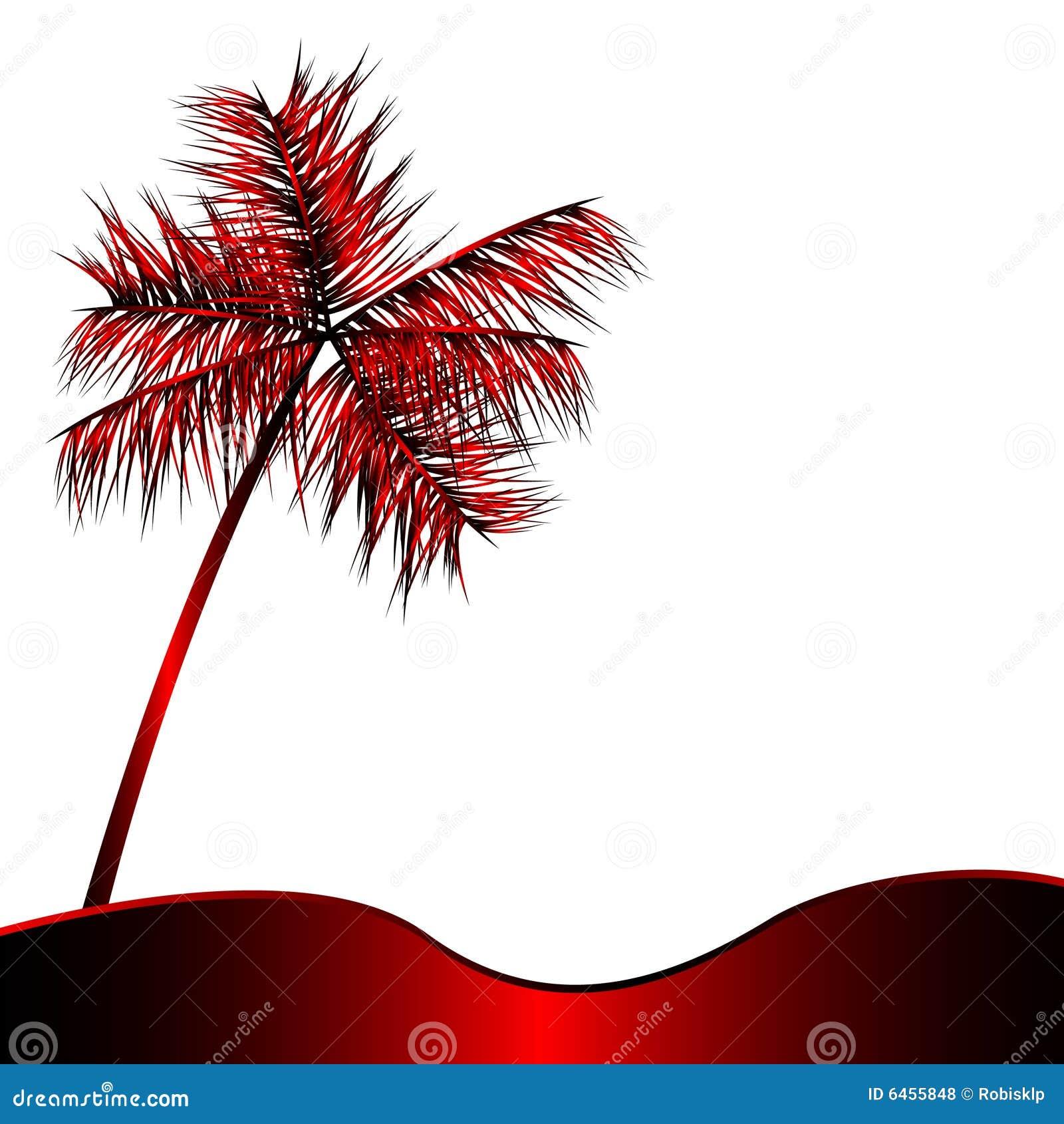 Palmowa metalicznej czerwone.