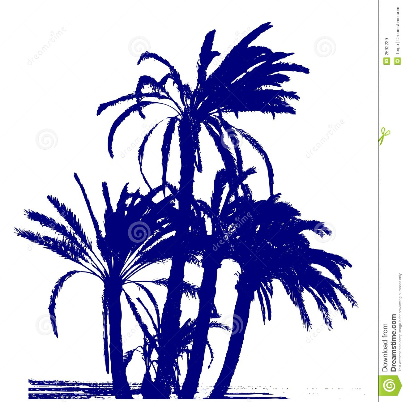 Palms group / vector
