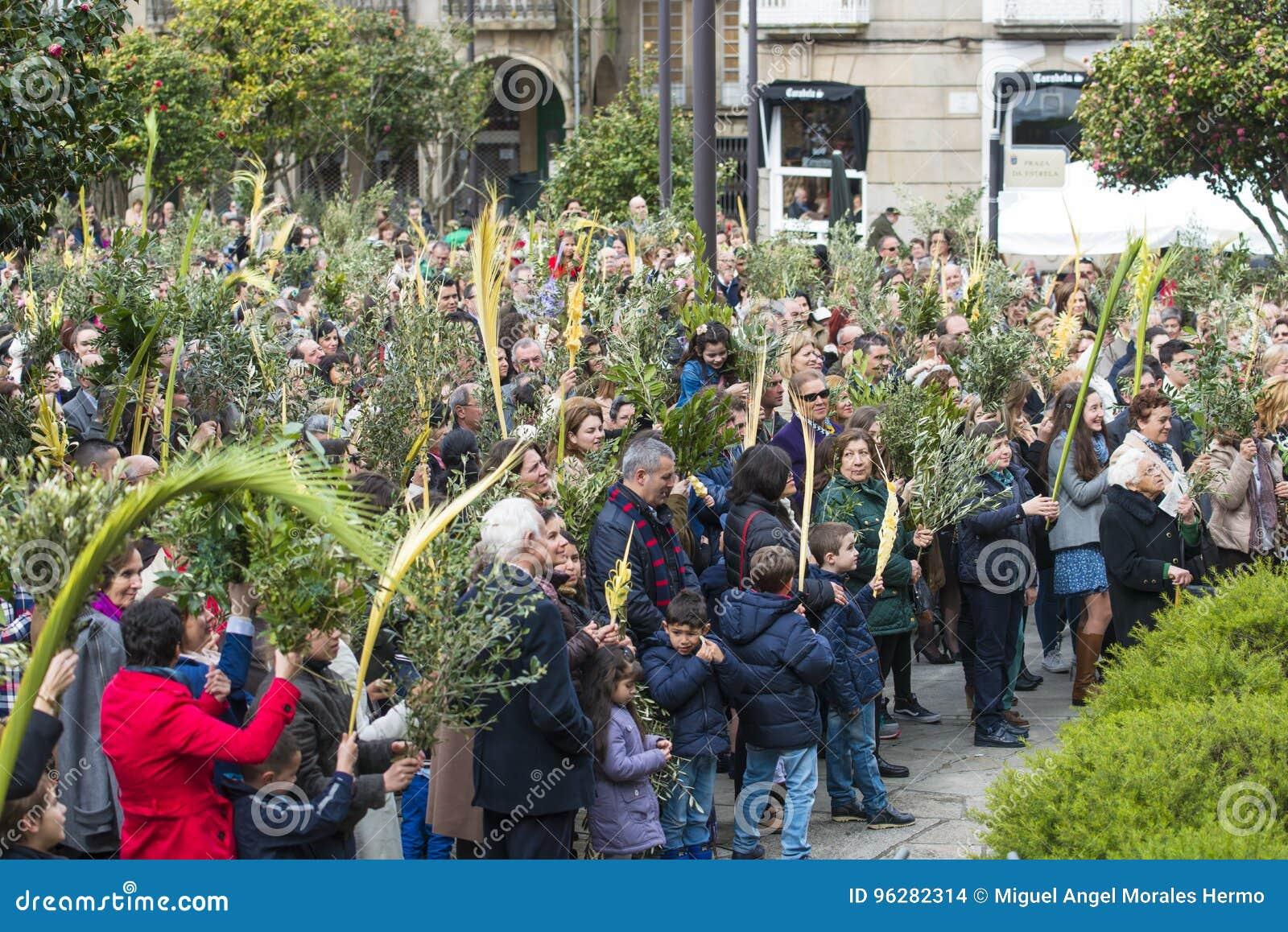Palmsonntag In Spanien Redaktionelles Stockbild Bild Von Olive