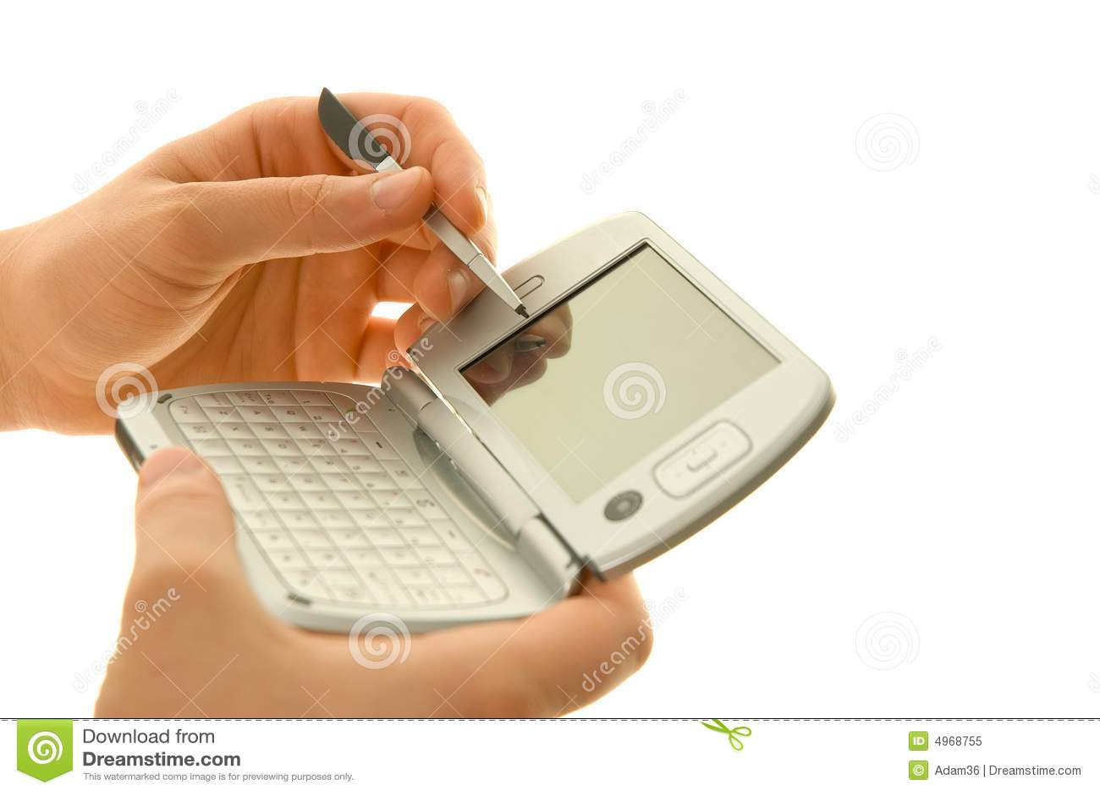 Palmtop stylus ręce