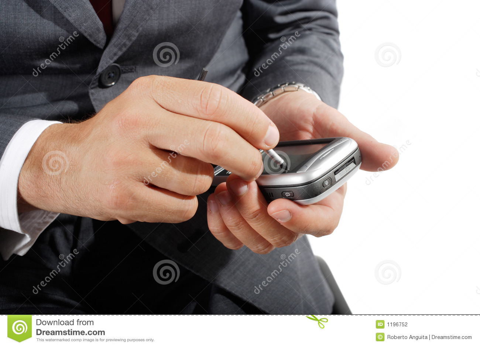 Palmtop użyć biznesmena