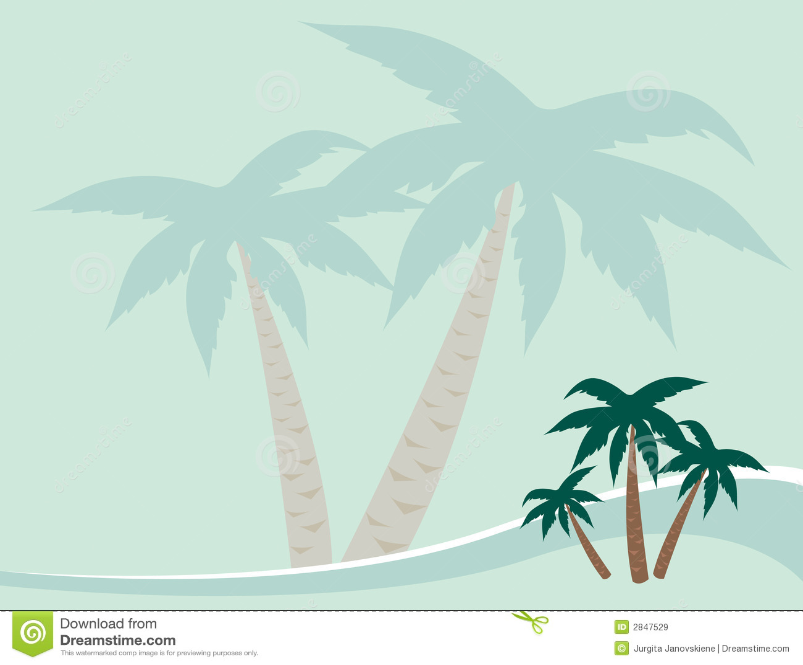 Palmy tło