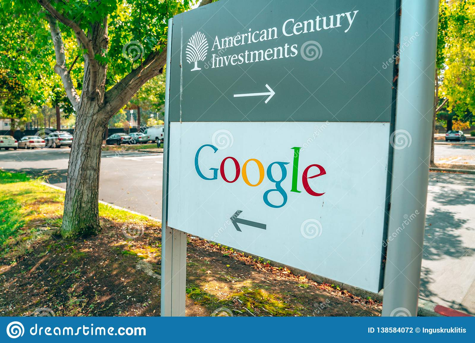 A Street View In Silicon Valley Near Google Office With