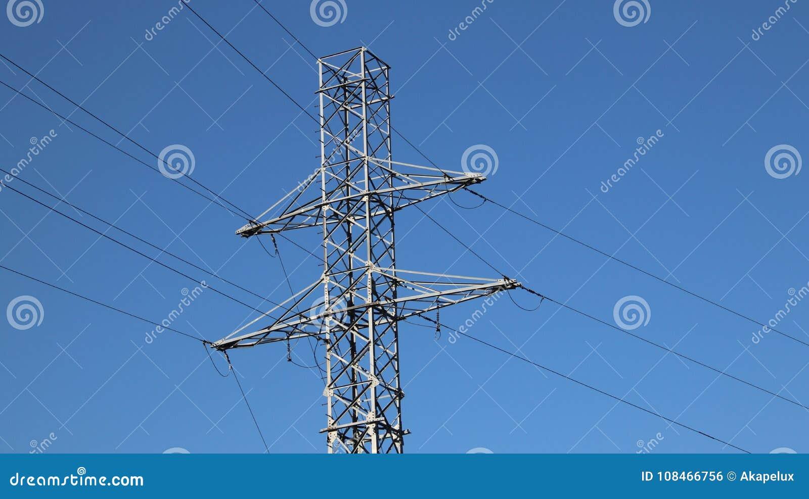 Palo elettrico della rete Tecnologia di potere Metal la costruzione Risorse strategiche Potere di ecologia