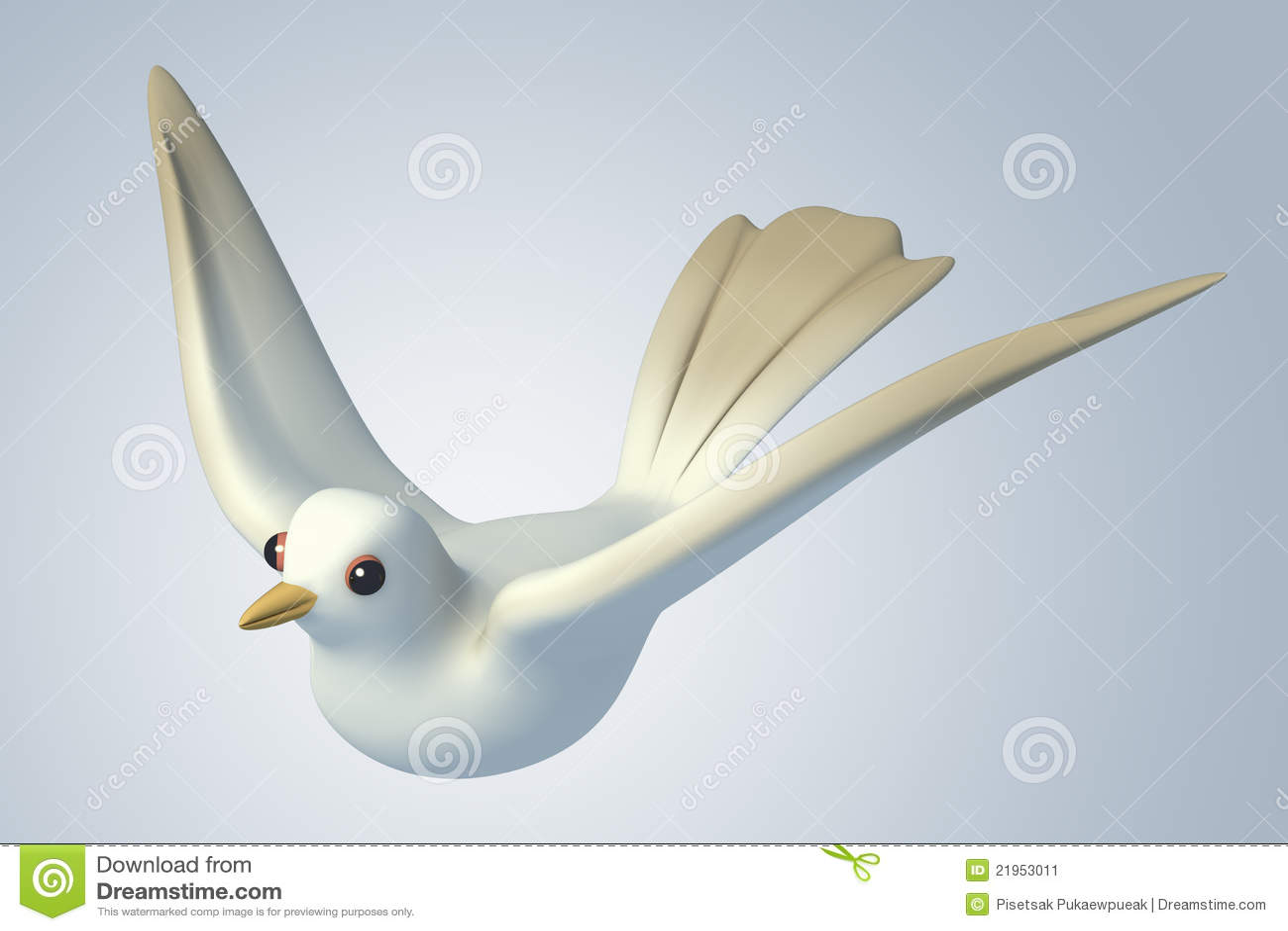 paloma blanca de la paloma 3d imagen de archivo imagen 21953011. Black Bedroom Furniture Sets. Home Design Ideas