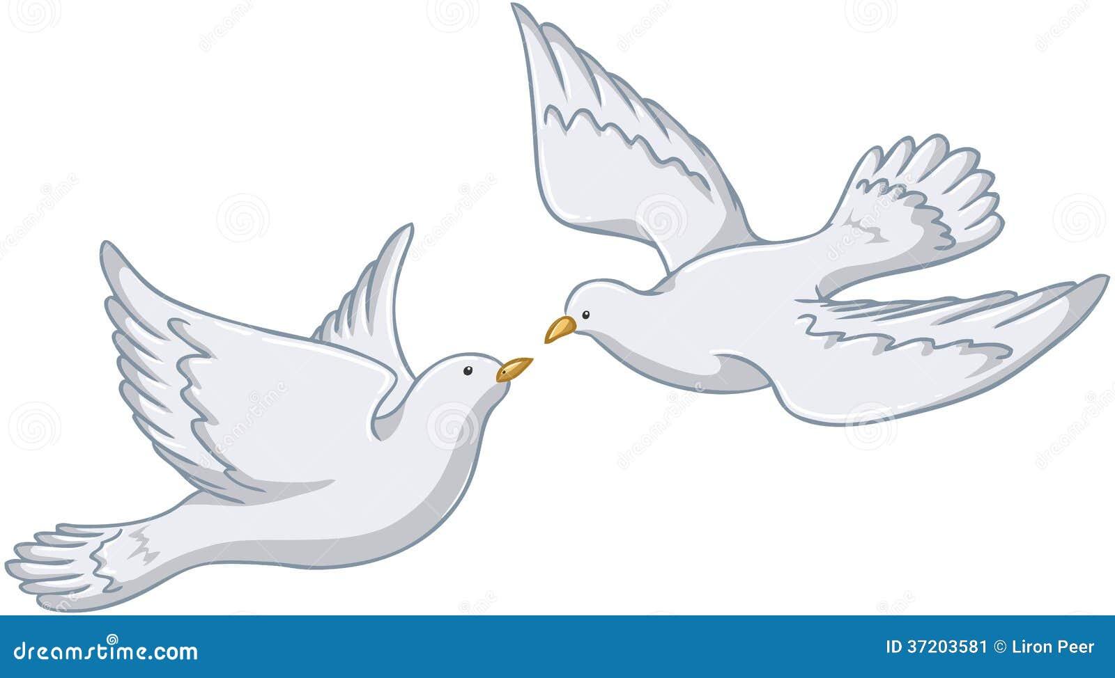 Palomas Blancas Que Vuelan Junto Imagen De Archivo  37203581
