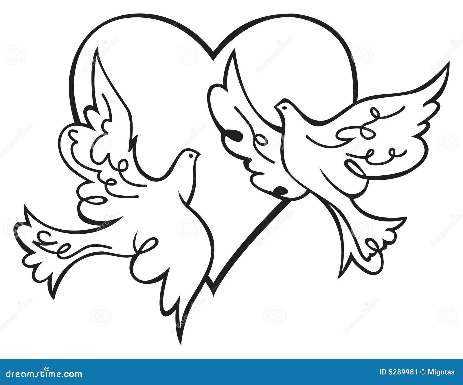 Palomas En Amor Imagen De Archivo Imagen 5289981
