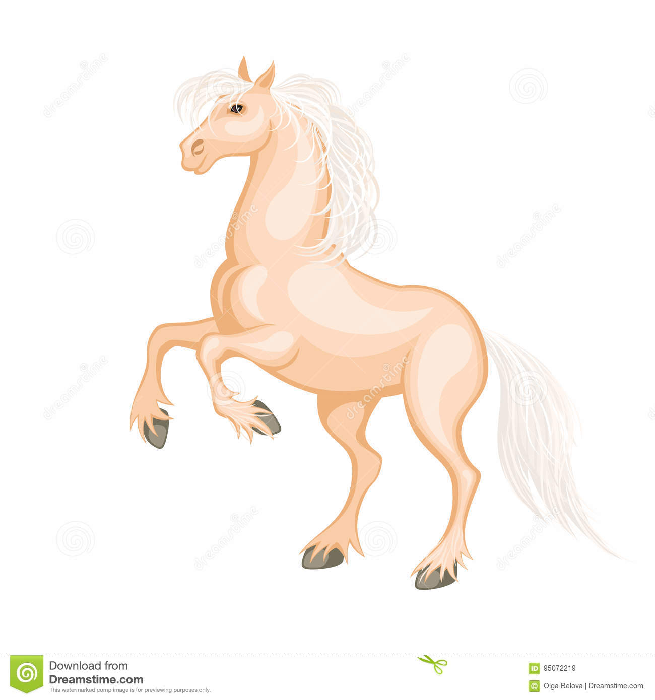 The Palomino Horse Stock Vector Illustration Of Gallope 95072219