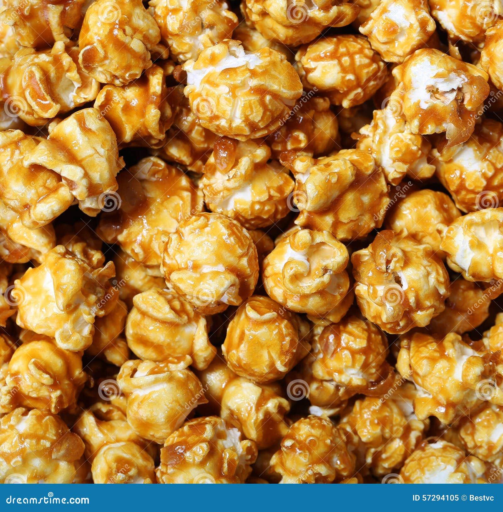 Palomitas De Maíz Del Caramelo Imagen de archivo - Imagen de maíz ...