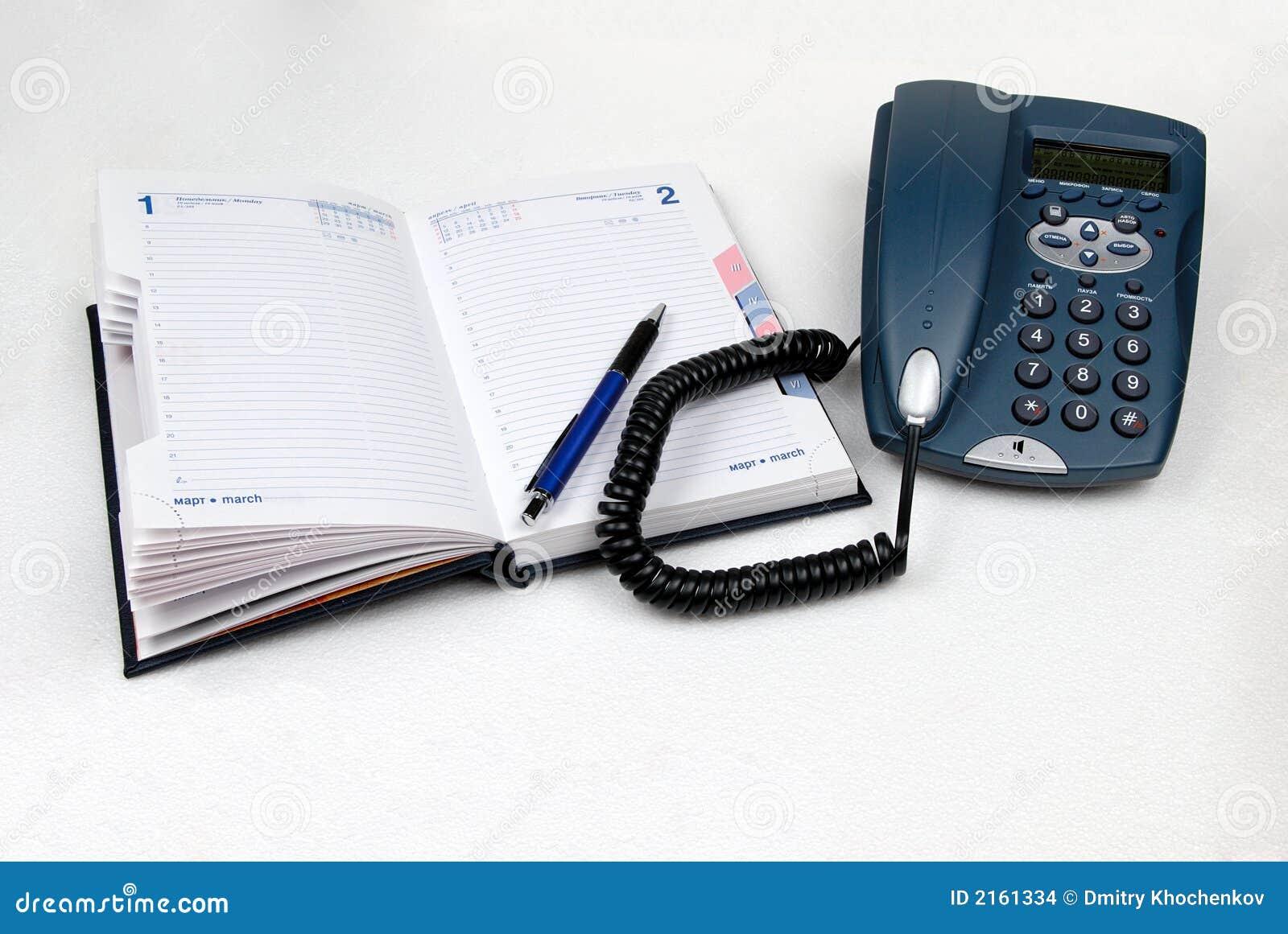 Pamiętnik długopisy otwarte telefon