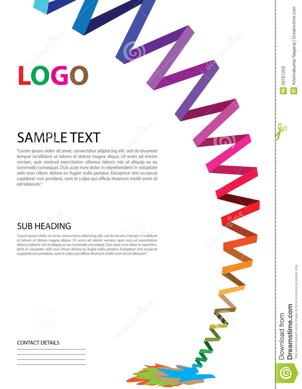 Pamphlet Template Stock Photo Image 50761253