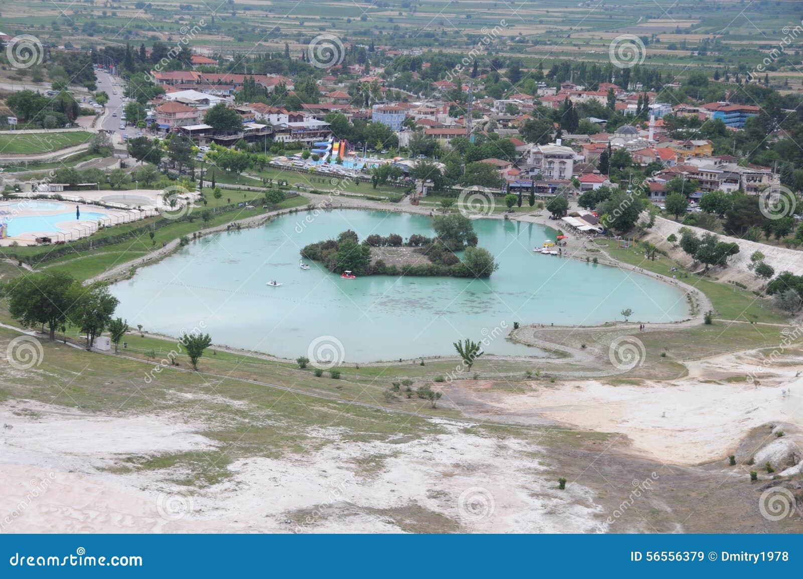 Download Pamukkale στοκ εικόνα. εικόνα από θέση, ροή, βράχος, ασβέστιο - 56556379