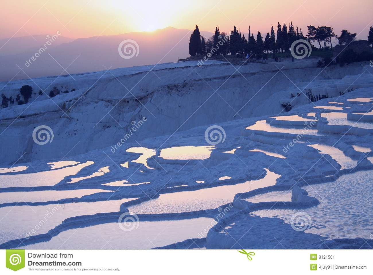 Denizli Turkey  city pictures gallery : Pamukkale, Denizli, Turkey Stock Image Image: 8121501