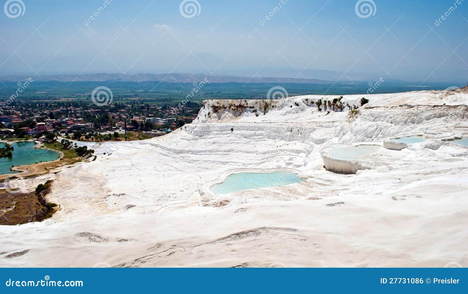 Pamukkale Landschaft, die Türkei