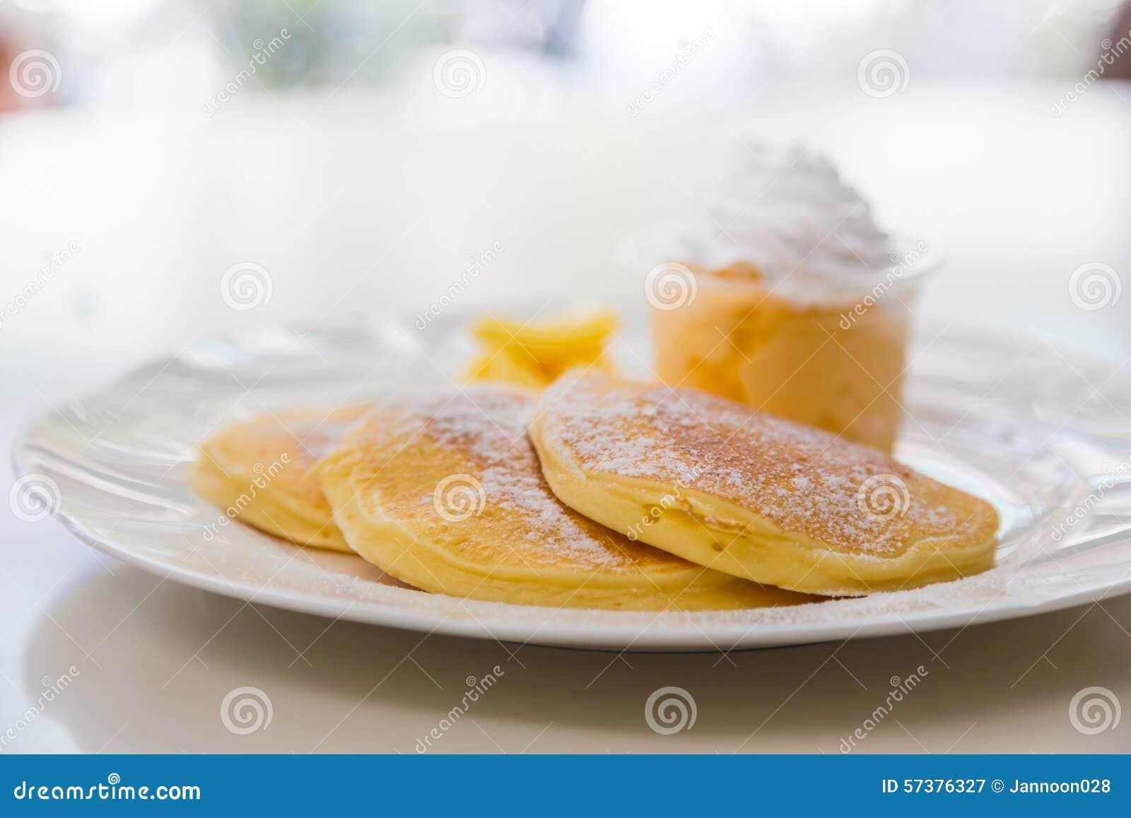 Pan Cake met Roomijs