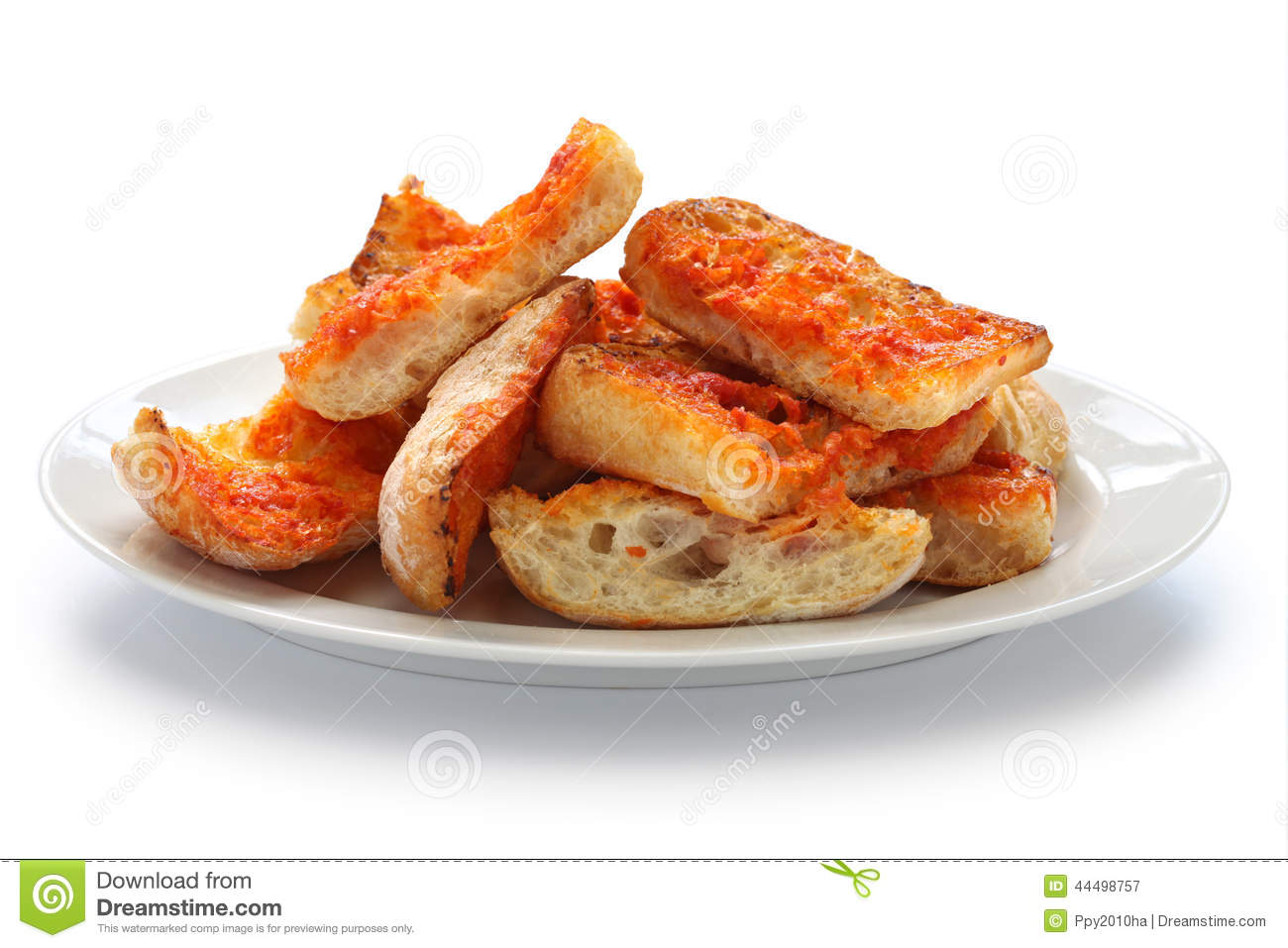 Pan Con Tomate, Spanish Tomato Bread Stock Photo - Image: 44498757