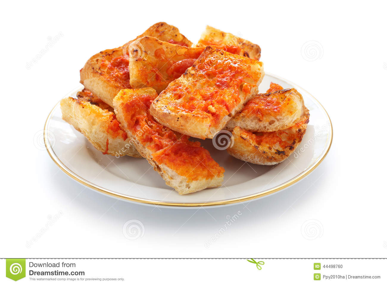 Pan Con Tomate, Spanish Tomato Bread Stock Photo - Image ...