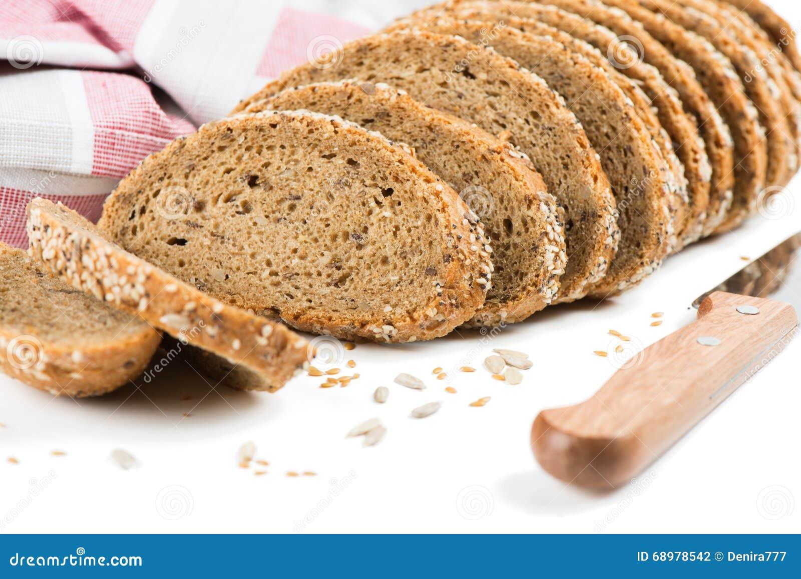 Pan de Brown con los cereales