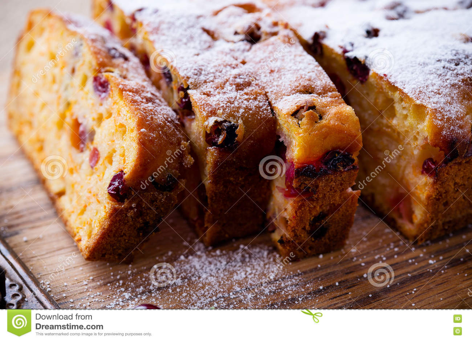 Pan del arándano de la calabaza