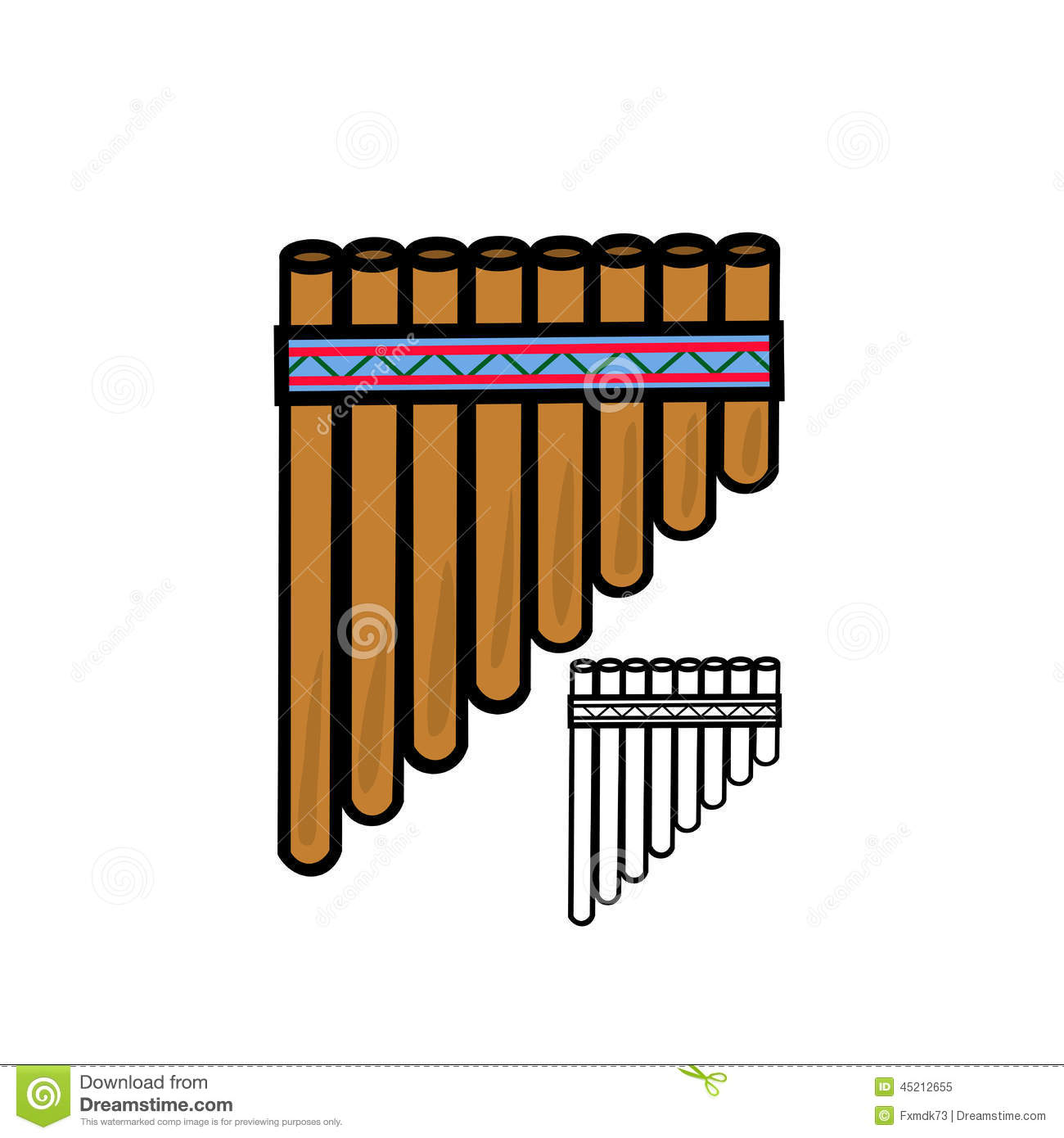 Pan flute stock vector. Image of latin, culture, pattern ...
