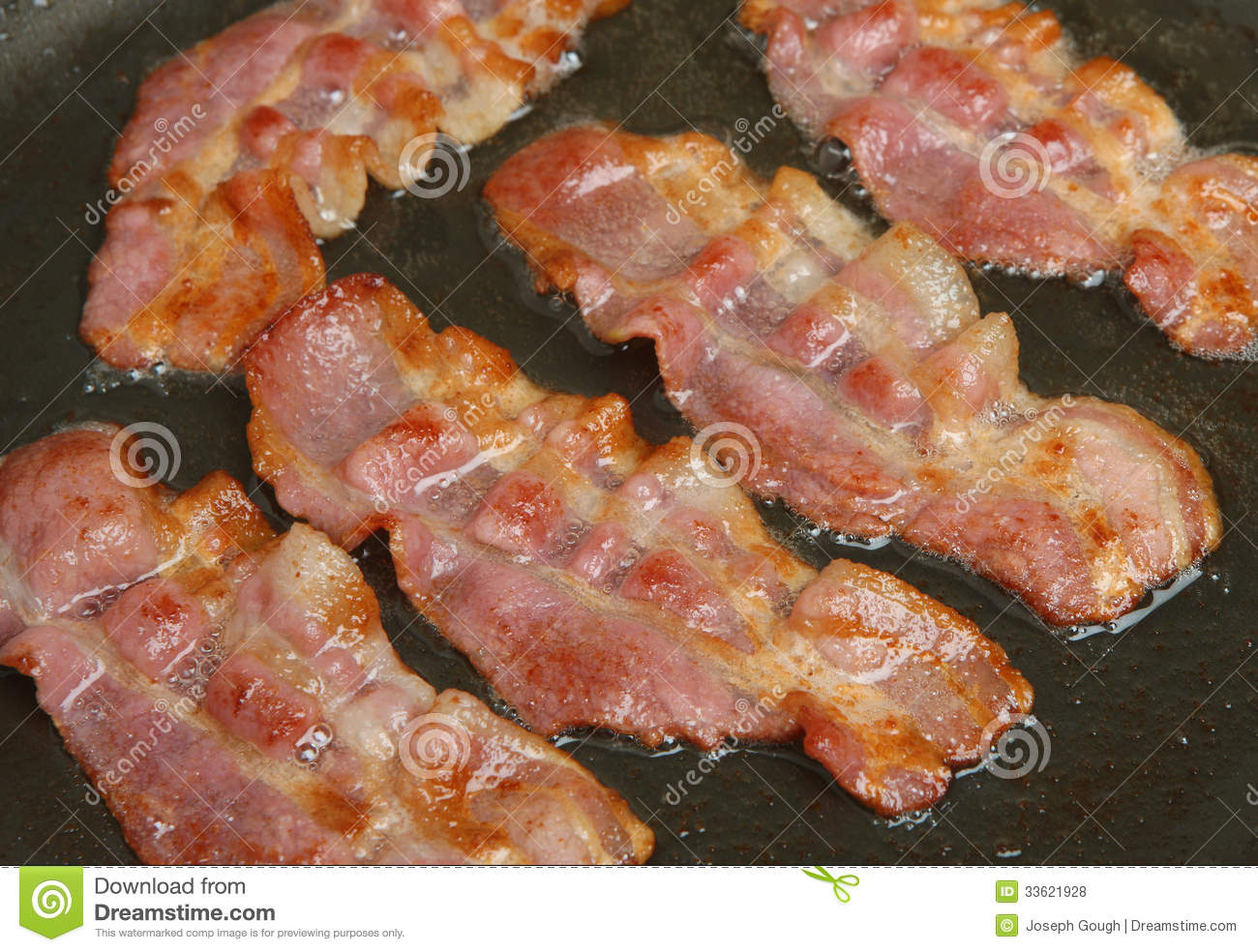 Pan Fried Bacon Rashers Stock Photo Image Of Food Frying