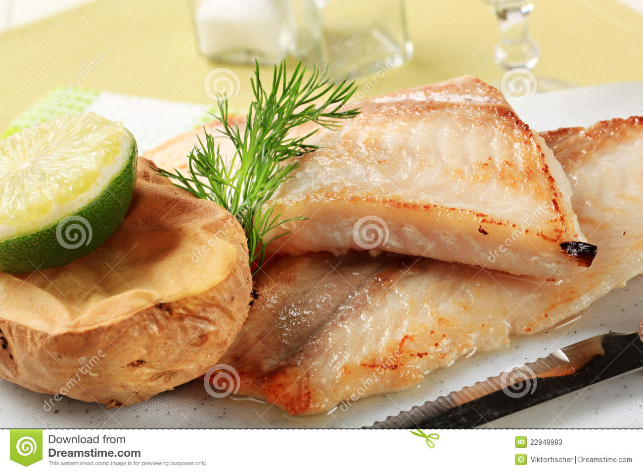 Pan fried fish fillets stock photo for Pan fried fish fillet recipes