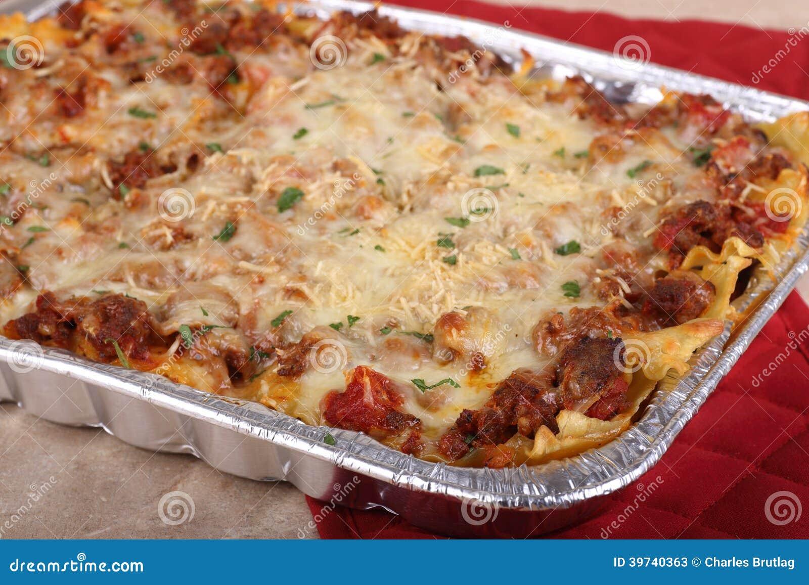 Pan Of Lasagna Stock Image Image Of Meal Cheesy Nobody