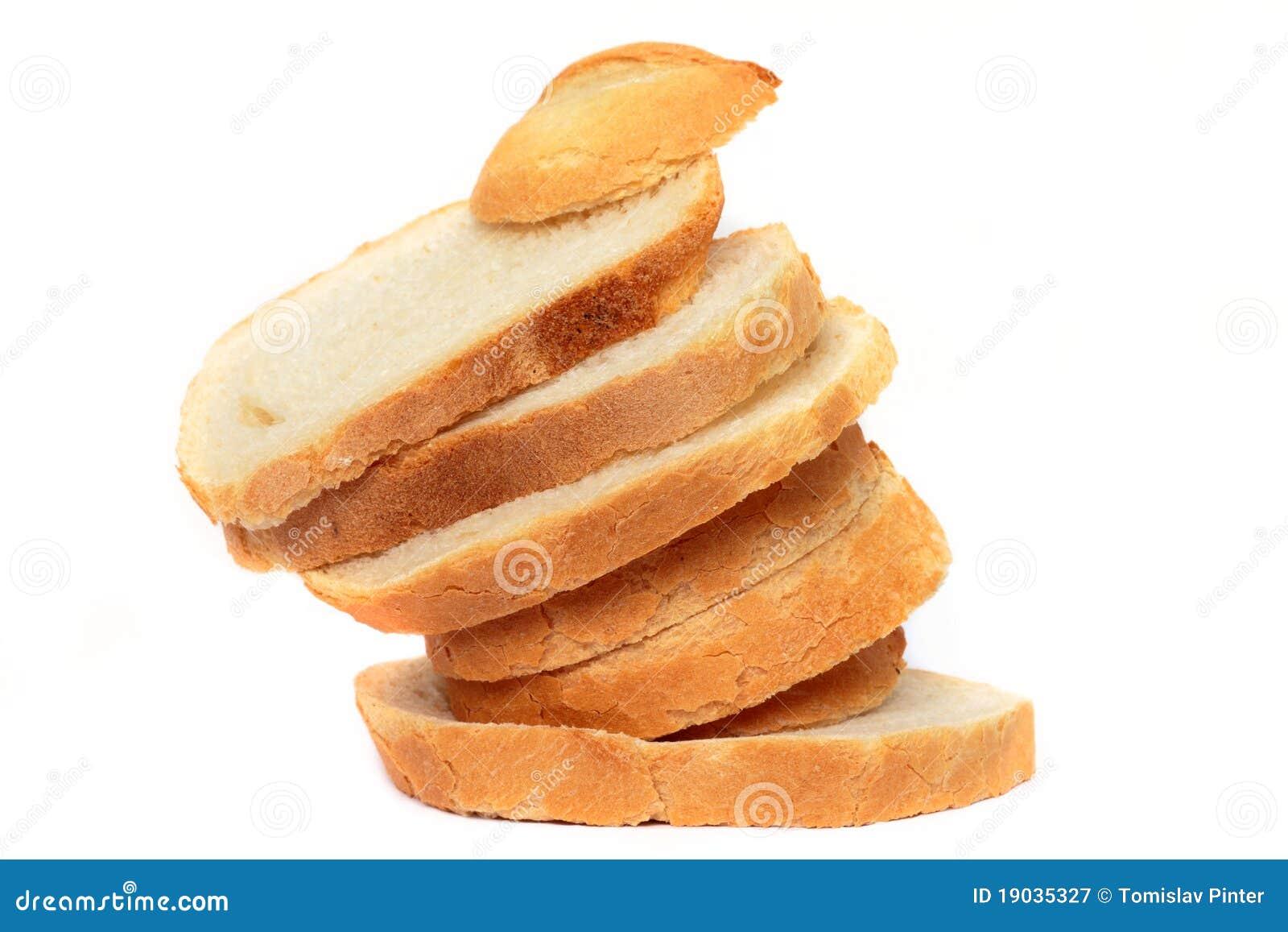 Pan rebanado dispuesto divertido