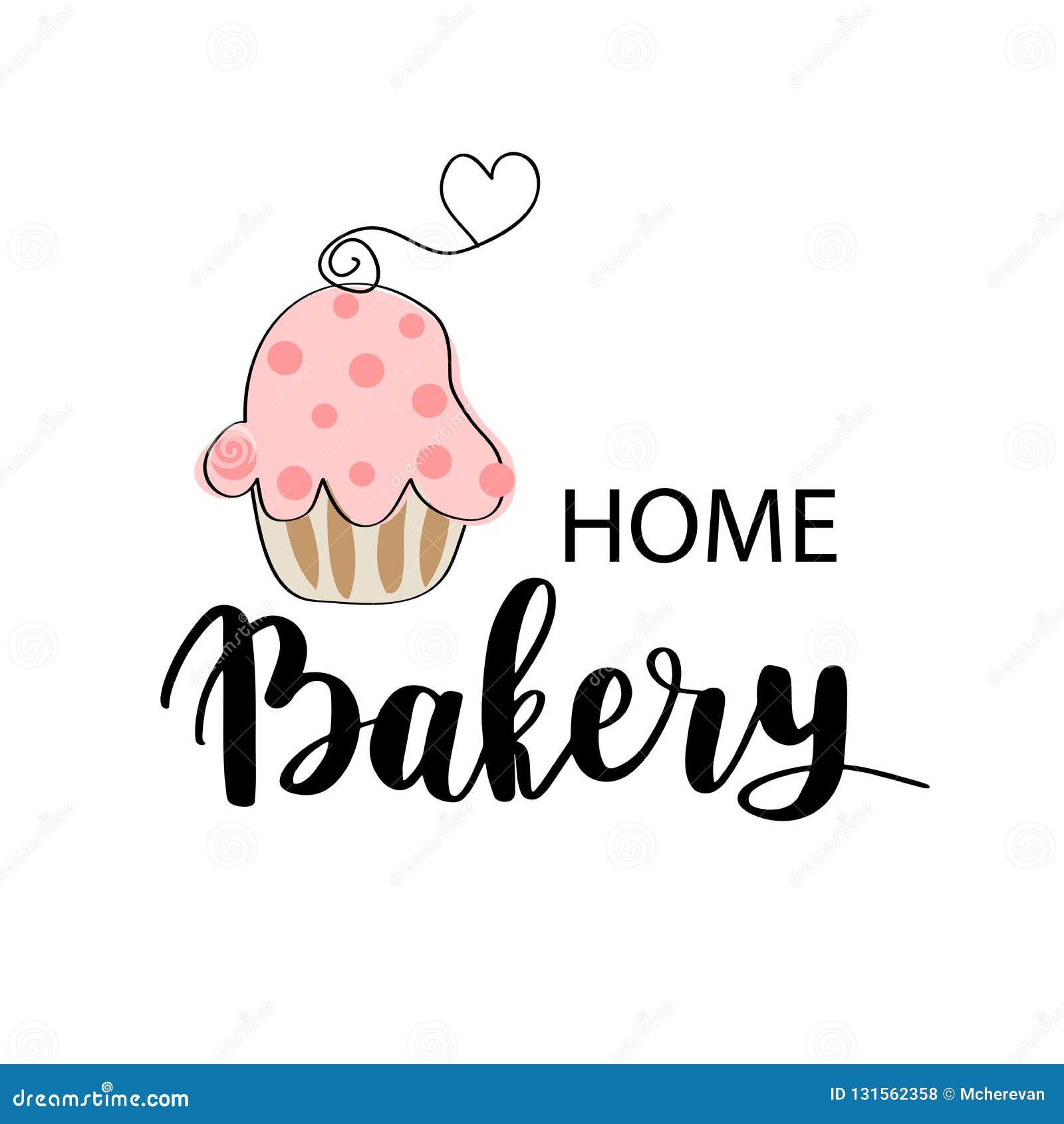 Panadería Del Vector Tienda Del Postre O Logotipo De La